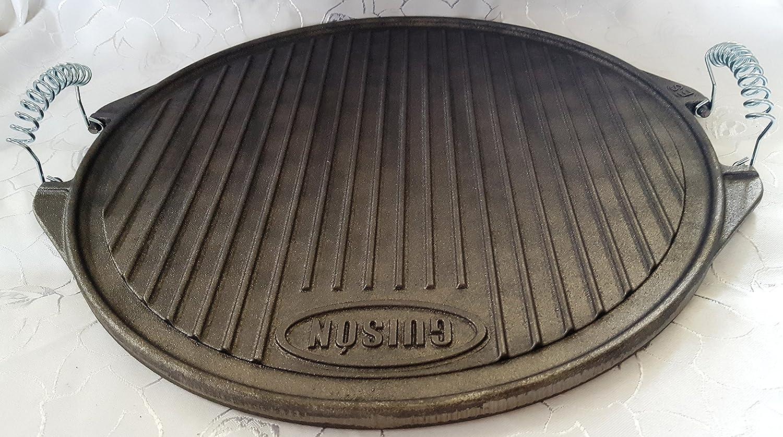 Grillplatte Wendeplatte Gusseisen Plancha 42 cm Eisen