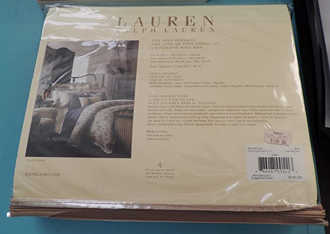 Ralph Lauren Bluff Point King Bedskirt