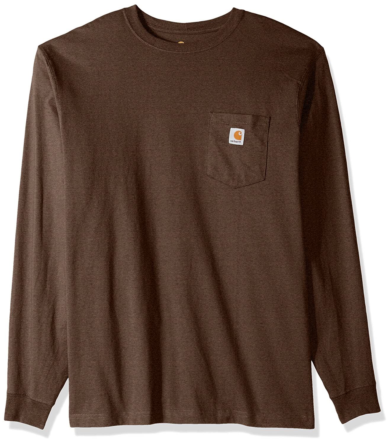 Carhartt SHIRT メンズ B06WVD9WFB X-Large Tall|Dark Coffee Heather Dark Coffee Heather X-Large Tall
