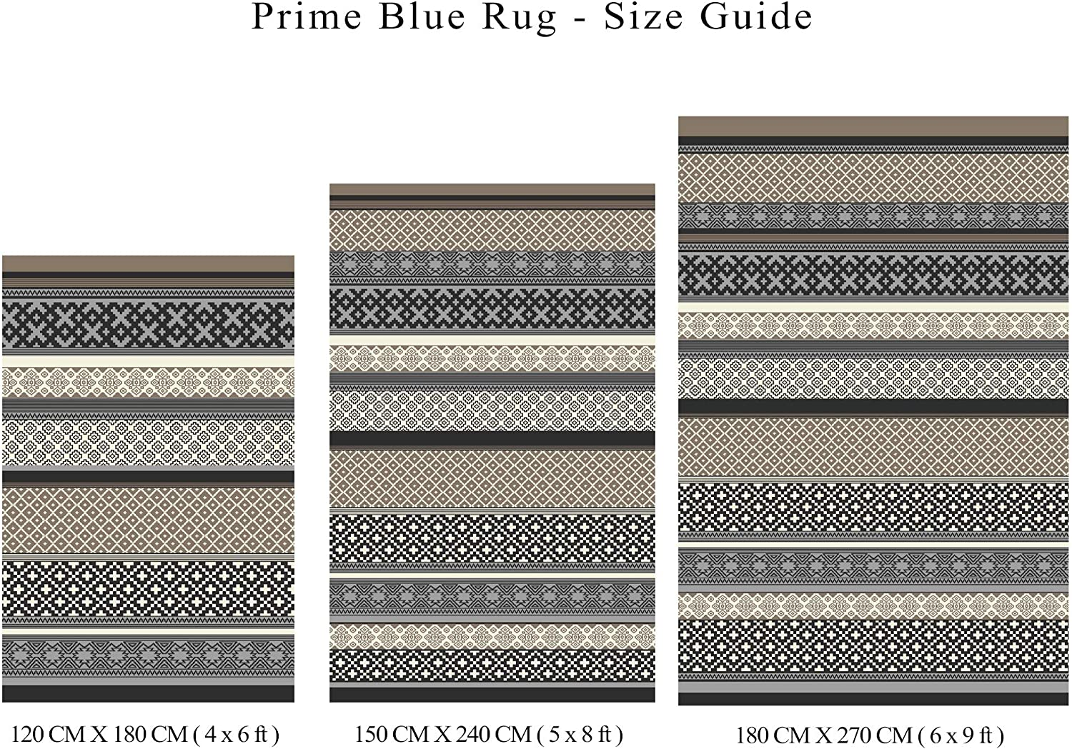 6x9, Prime Navy//Taupe Green Decore Lightweight Outdoor Reversible Plastic Rug