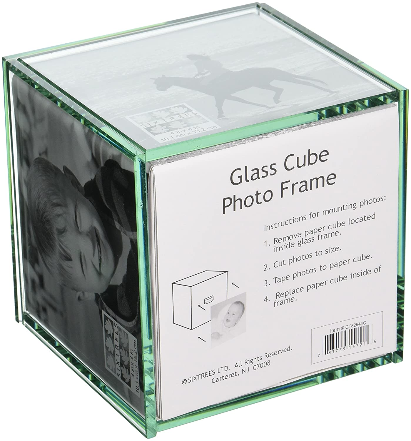 Sixtrees Glass 4 Inch By 4 Inch Cube Frame Amazonca Home Kitchen