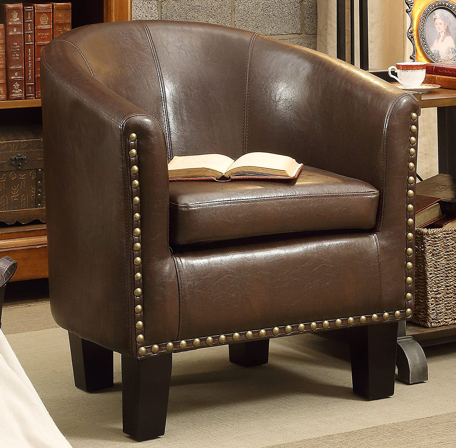 cheap leather club chair