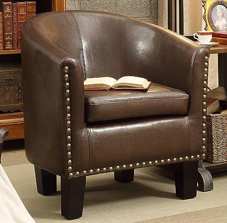 Rosevera C2BN Club Chair Dark Brown