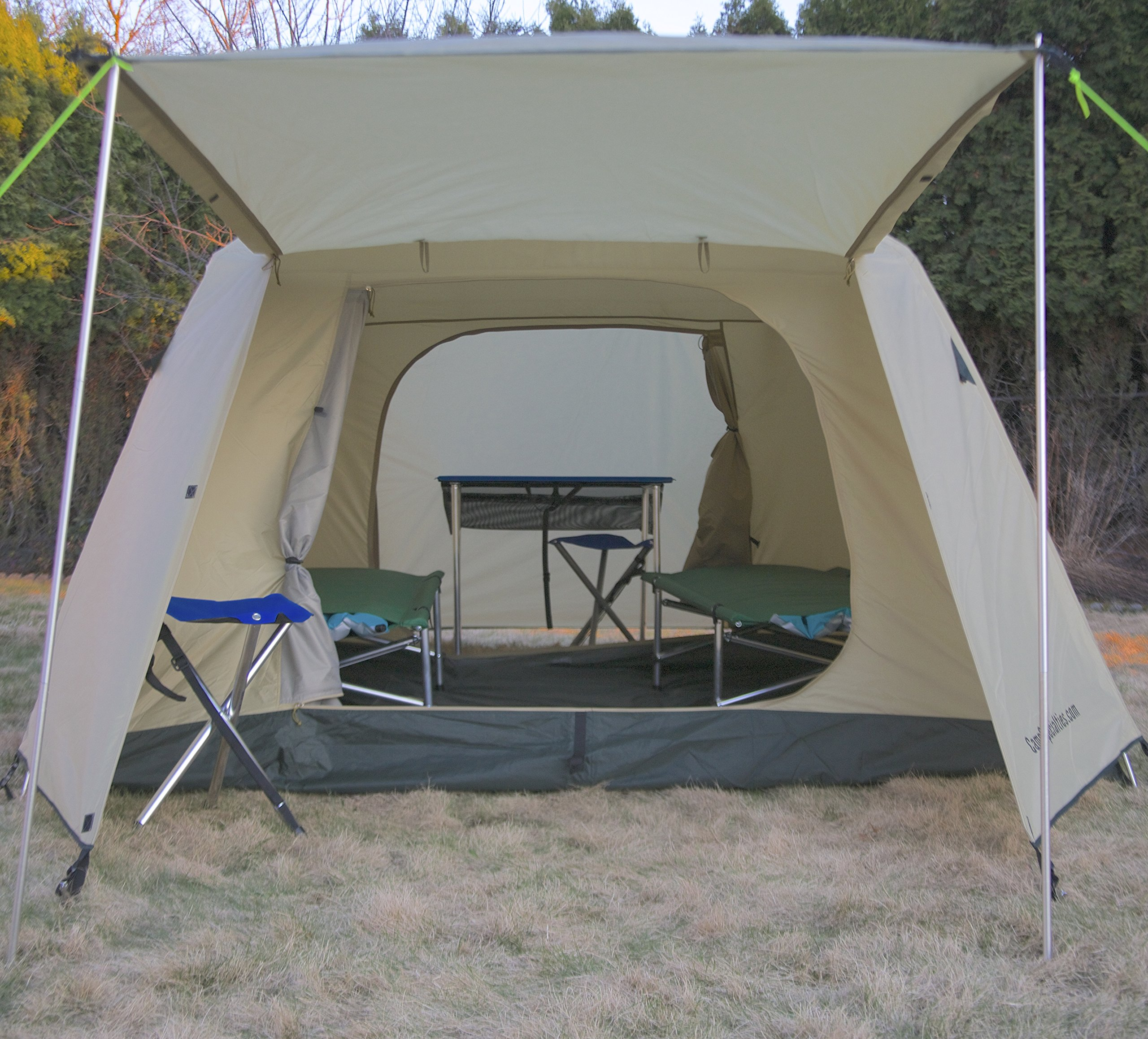 Camp Time Expedition Tent, Fast set-up, 100 square feet including vestibules, floor liner, awning poles, 7001-T6 aluminum, Designed for your cots-stools-tables,. by Camp Specialties (Image #5)