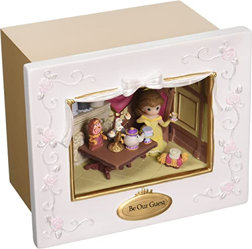 Precious Moments Disney Showcase Collection Be Our Guest Deluxe Music Box LED Lights Resin 163103