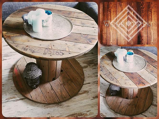 Holz Tisch Kabeltrommel Couchtisch Kleine Kabeltrommel Ohne Deko Ca