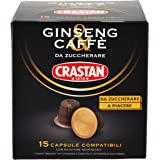Crastan Capsule Compatibili Nespresso Ginseng & Caffè da Zuccherare - 90 Capsule Monodose