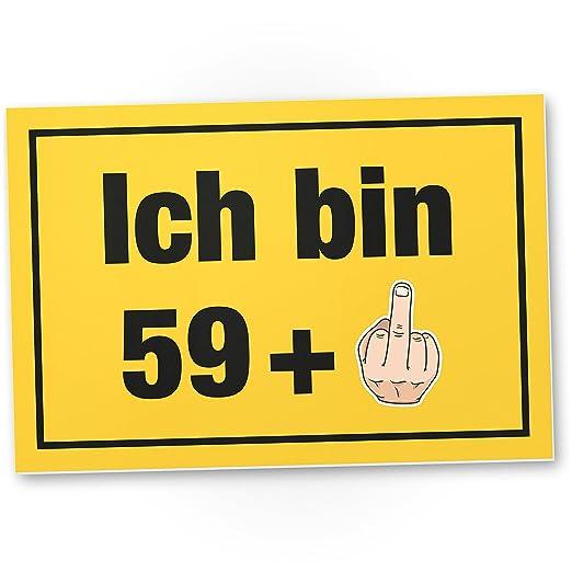 DankeDir!. Ich Bin Ahora 60 años, plástico Cartel - 60 ...