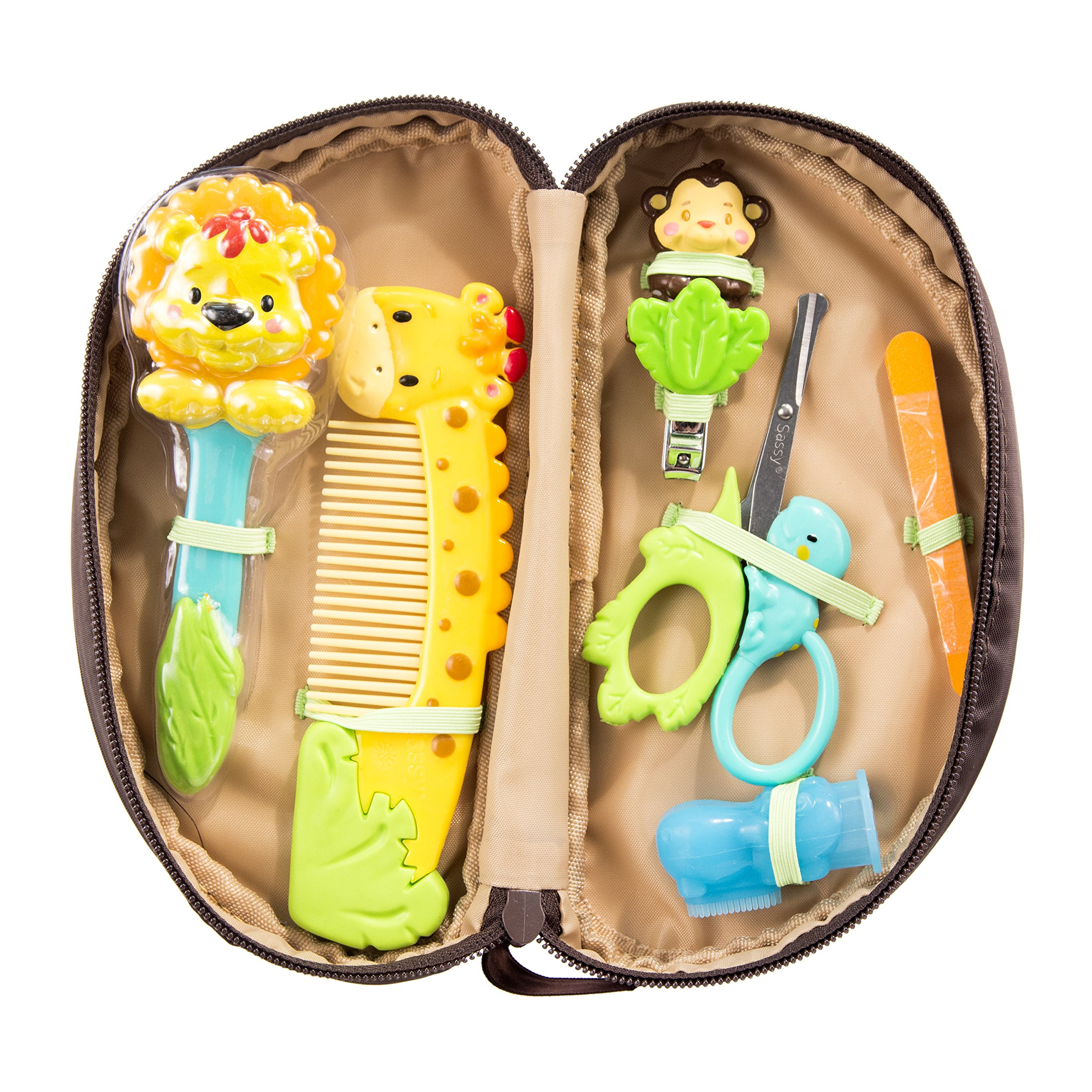 Sassy Jungle Theme Grooming Set, 11 Count by Sassy