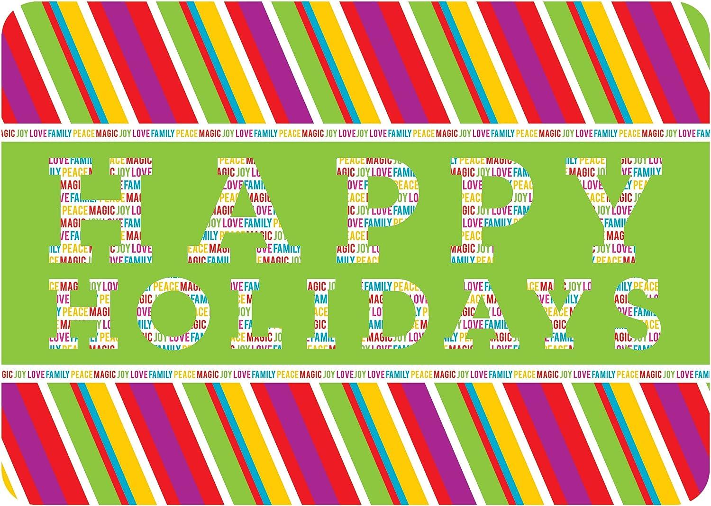 Multicolor 23 x 36 Novelty Merry /& Bright Mat by Simon+Kabuki