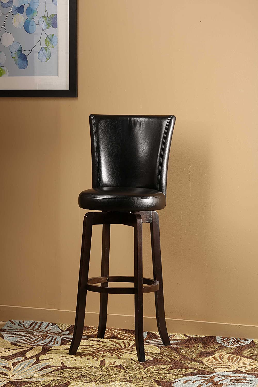 Amazon.com Hillsdale 4951-830 Copenhagen Swivel Bar Stool Black Leather Kitchen u0026 Dining & Amazon.com: Hillsdale 4951-830 Copenhagen Swivel Bar Stool Black ... islam-shia.org