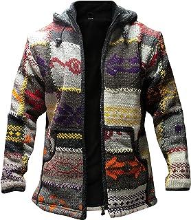Shopoholic Fashion Mens Patchwork High Neck Boho Hippy Jacket