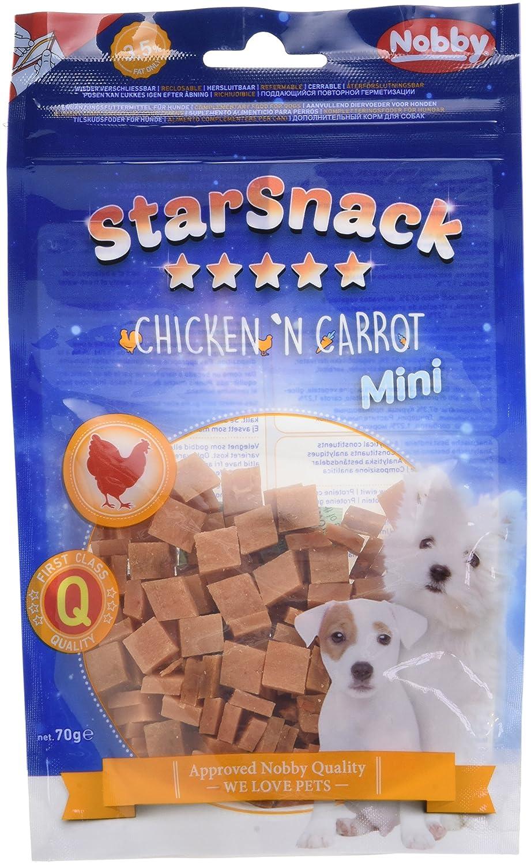 Nobby Snack Poulet/Carotte Mini pour Chien 70 g - Lot de 6 70143