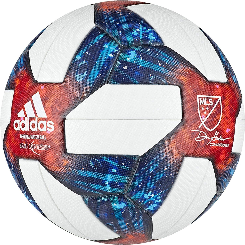 adidas MLS Omb Balón, Hombre, Multicolor (Blanco/Plamet), 5 ...