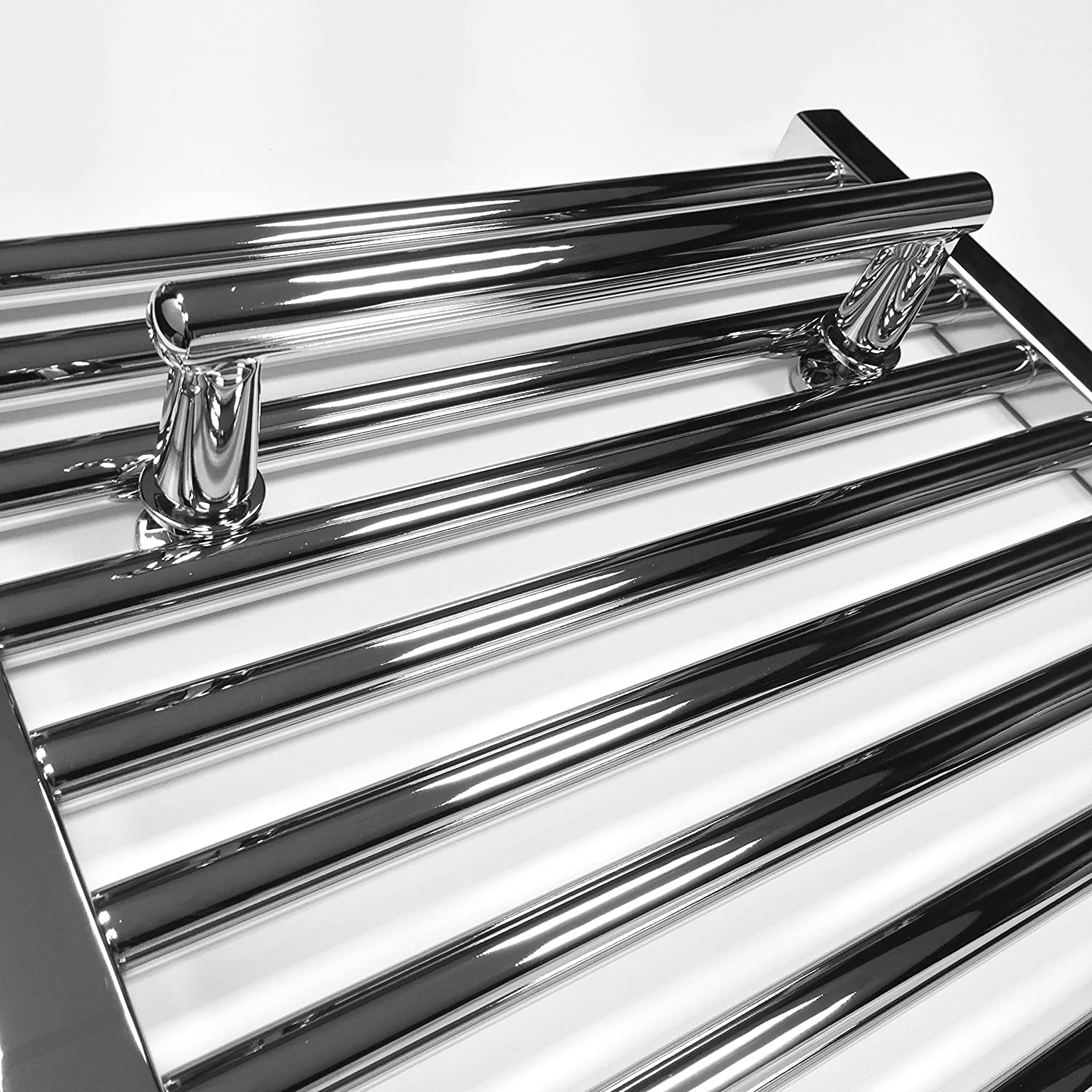 Geyser Radiators Chrome Straight Towel Bar Extra Hanger for 400mm Wide Towel Rail