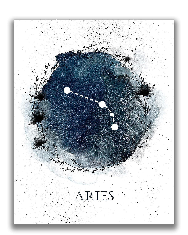 ARIES Sign Constellation Print Downloadable Constellation Aries Zodiac Print,Gift Aries Print,Watercolor Zodiac Poster,Minimalist Print