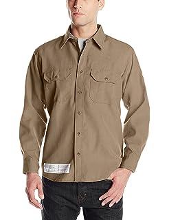 d41534859e9b Bulwark Flame Resistant 4.5 oz Nomex IIIA Uniform Shirt Tailored Sleeve  Placket