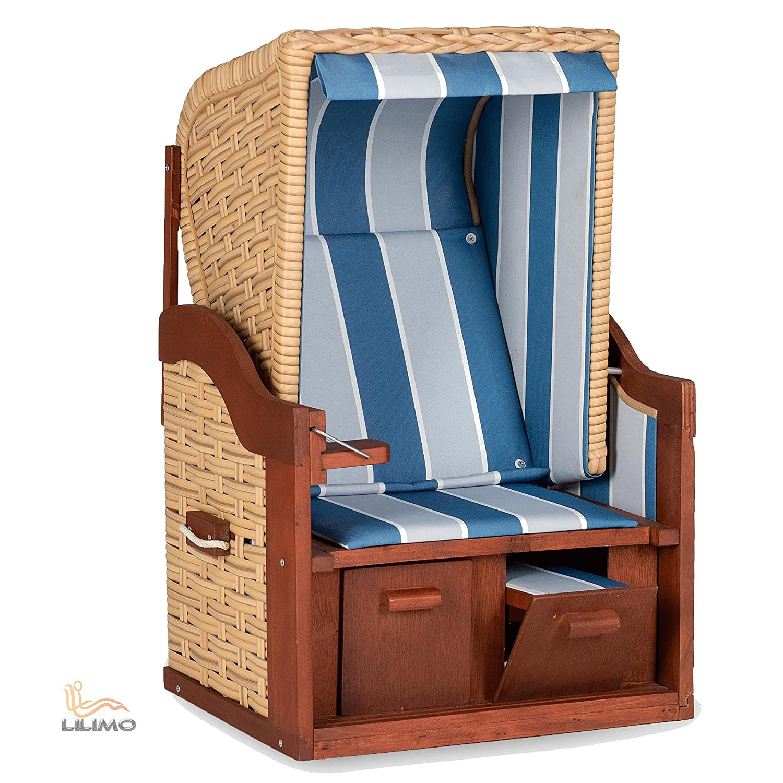 puppen strandkorb mini strandkorb deko strandkorb blau wei pe natur lilimo bestellen. Black Bedroom Furniture Sets. Home Design Ideas