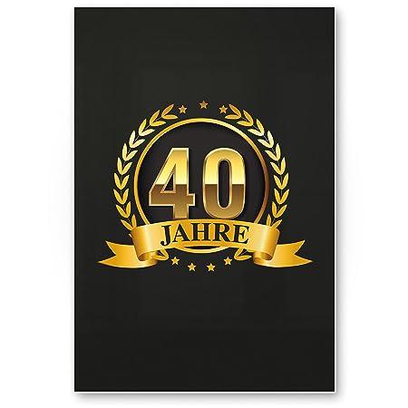 DankeDir!. 40 años Oro, plástico Cartel - 40 cumpleaños ...