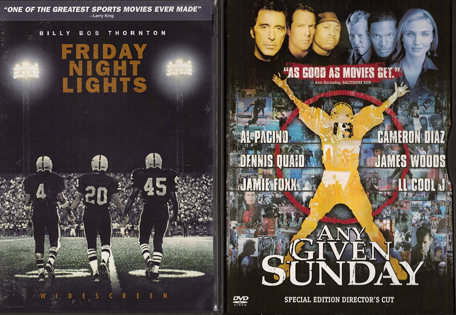 Amazon Com Any Given Sunday Friday Night Lights Football Movie