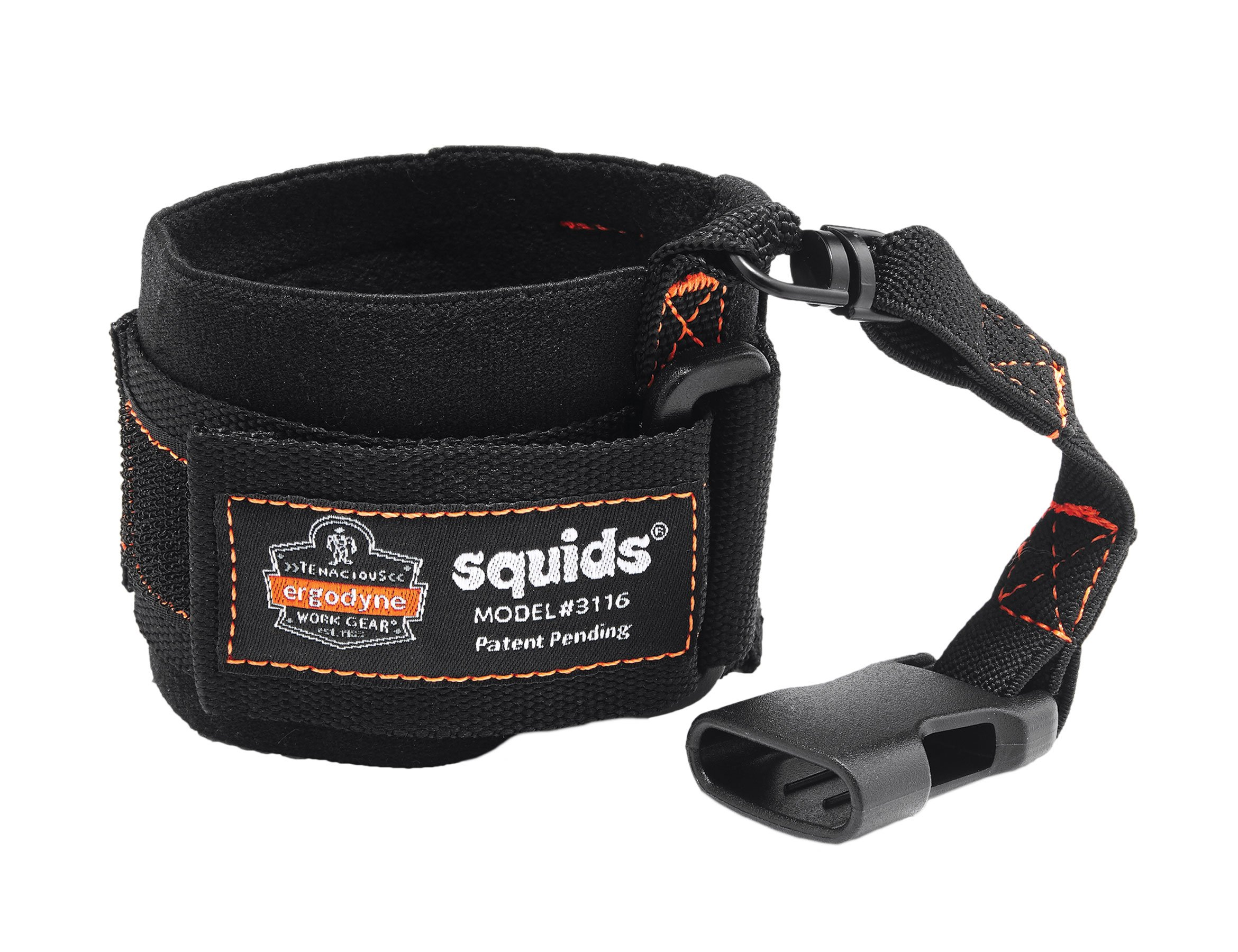 Ergodyne Squids 3116 Pull-On Wrist Tool Lanyard with Buckle Connection, 3 Pounds