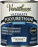 Rust-Oleum 262074 Varathane Polyurethane Clear Interior Matte Finish, 1 Qt, 2 Piece
