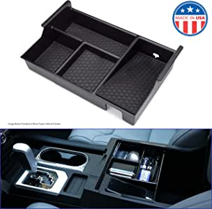 MX Auto Accessories - Center Console Organizer Compatible with The Toyota Tundra & Sequoia (2007-2019) - Made in The USA. Years (07-13) Organizer Will not fit Flush to Front Edge of Console as Shown.