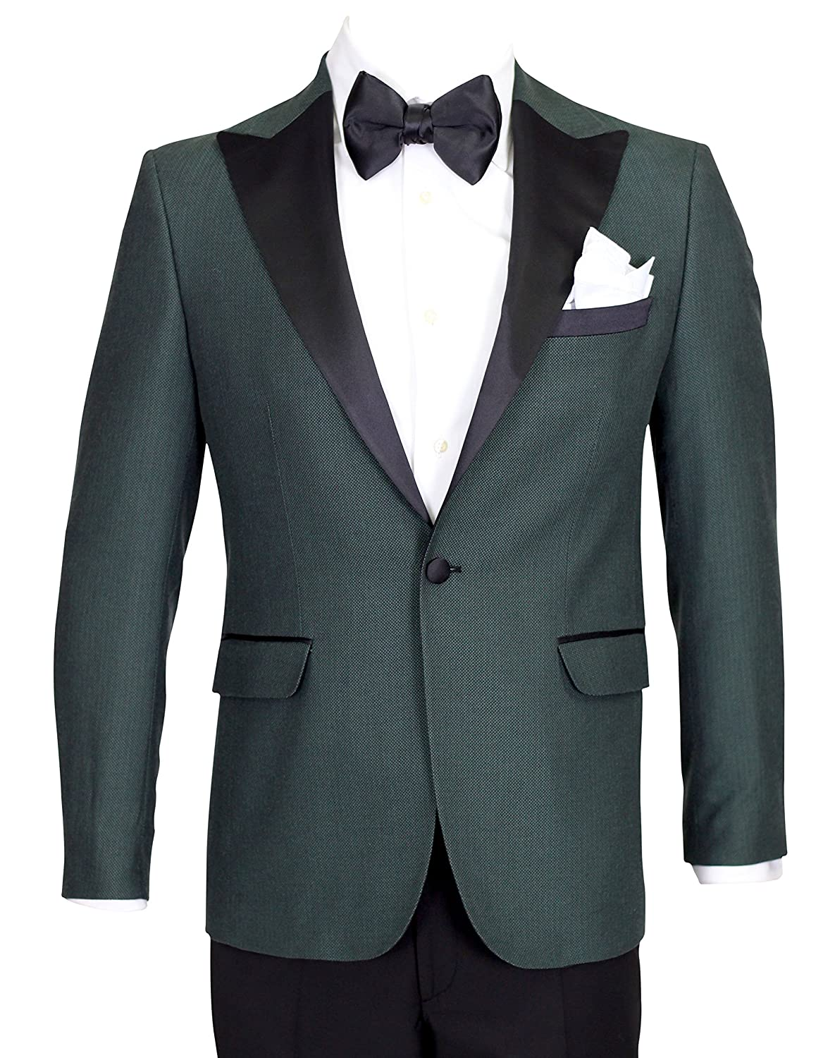 Giangiulio - Green Wool Dinner Jacket/Suit with Satin Lapel