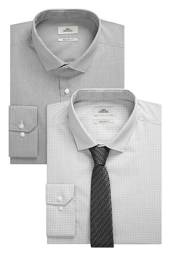 next Hombre Pack De Dos Camisas Corte Estándar con Corbata Regular ...
