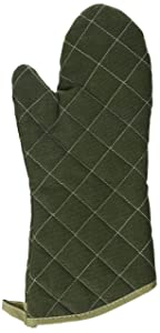 Winco Flame Resistant Oven Mitt, 13-Inch, Sage Green