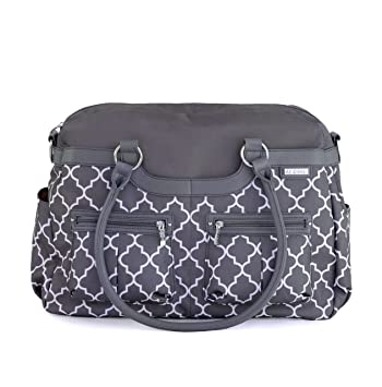 Amazon.com : JJ Cole Satchel Diaper Bag, Stone Arbor : Diaper Tote ...