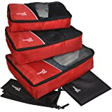 HOPEVILLE Organizador de maleta Negro rojo Groß: 43 cm x 32 cm x 11,5 cm