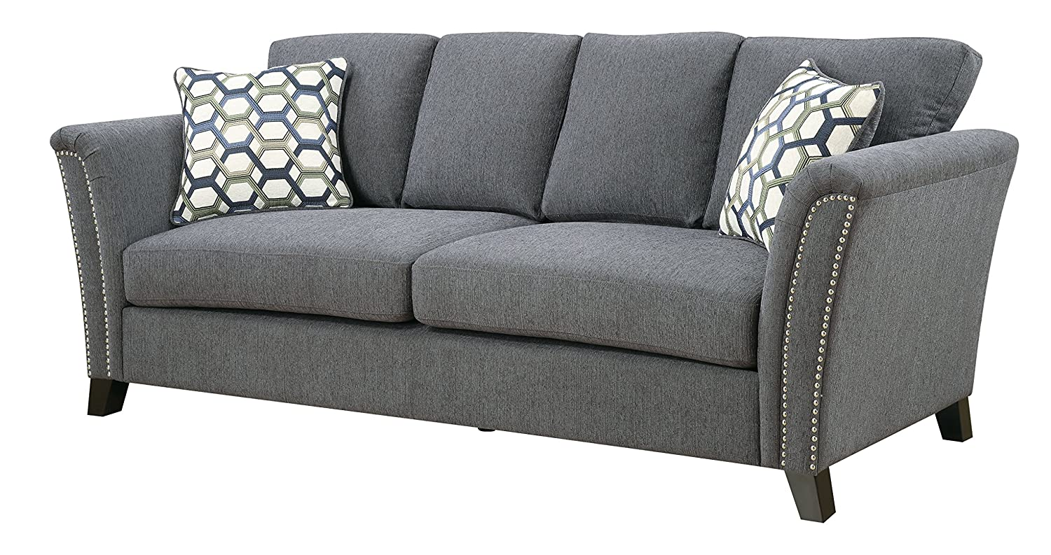Furniture of America Heyer Contemporary Sofa Pillows, Gray