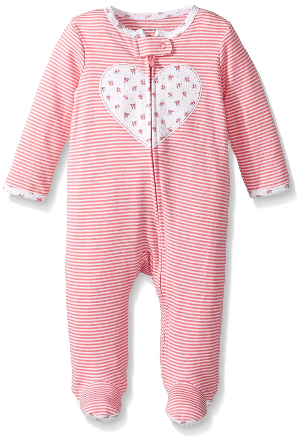 Carter's Baby Girls' Floral Heart Split Footed Coverall Carter' s