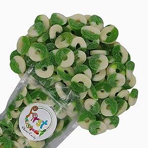 FirstChoiceCandy Gummi Rings (Apple, 1 LB)