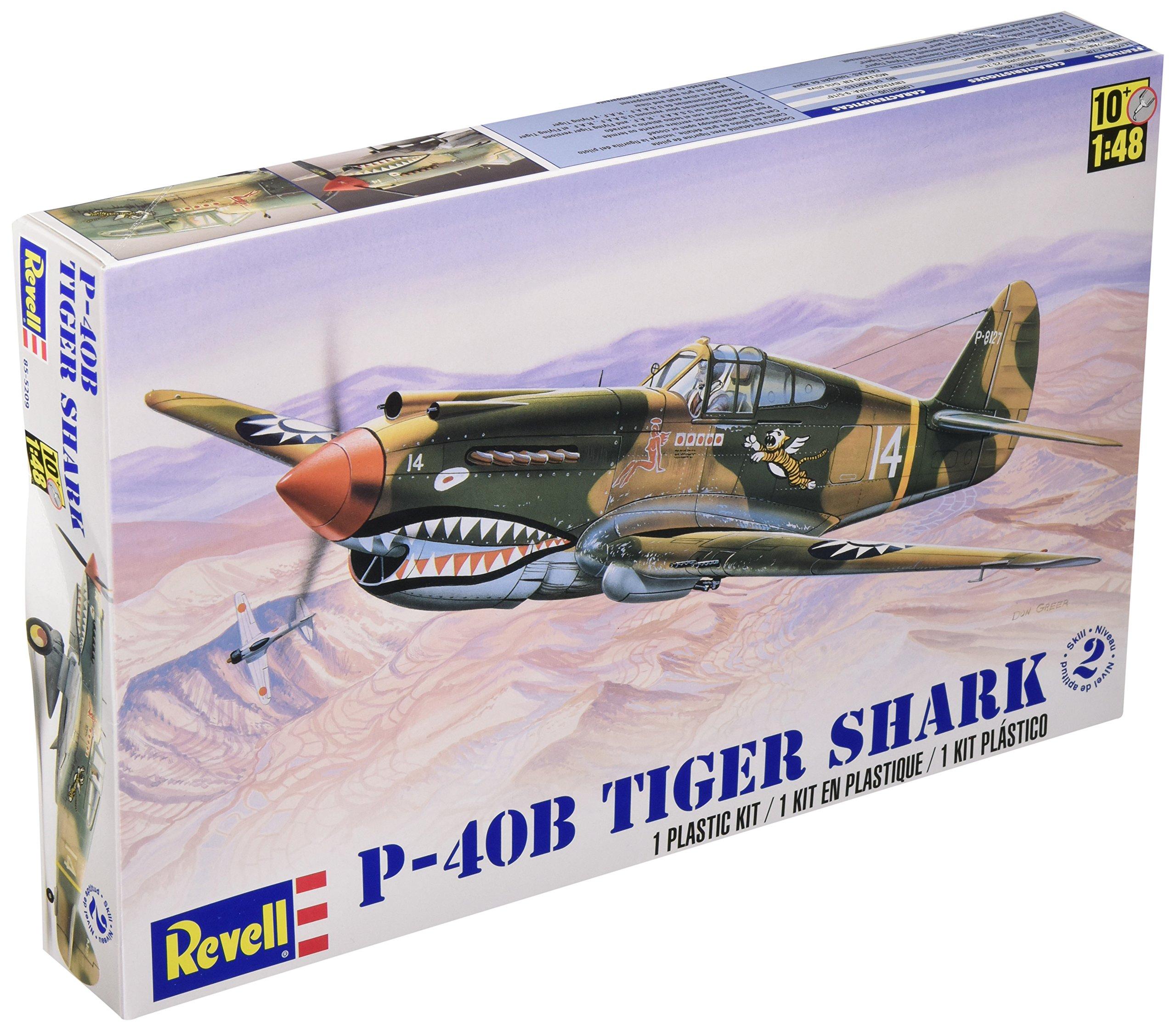 Revell 1:48 P - 40B Tiger Shark Plastic Model Kit by Revell