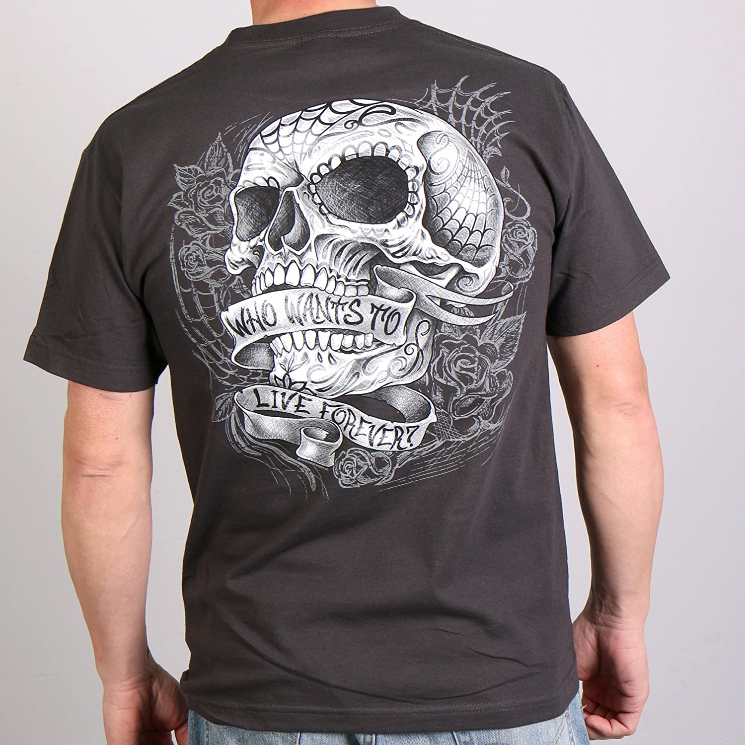 Hot Leathers Sweet Demise 100/% Cotton Double Sided Printed Biker T-Shirt