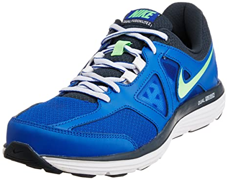 meet 07302 e14a5 Nike Dual Fusion Lite 2 MSL Hommes - - Bleu Lion Vert Poison - Gris
