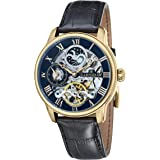 Thomas Earnshaw Men's Londitude Analogue Automatic Skeleton 2 Hands with Dual Time Black Strap Watch ES-8006-05