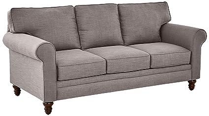 Wondrous Ravenna Home Randall Rolled Arm Sofa 83W Grey Inzonedesignstudio Interior Chair Design Inzonedesignstudiocom