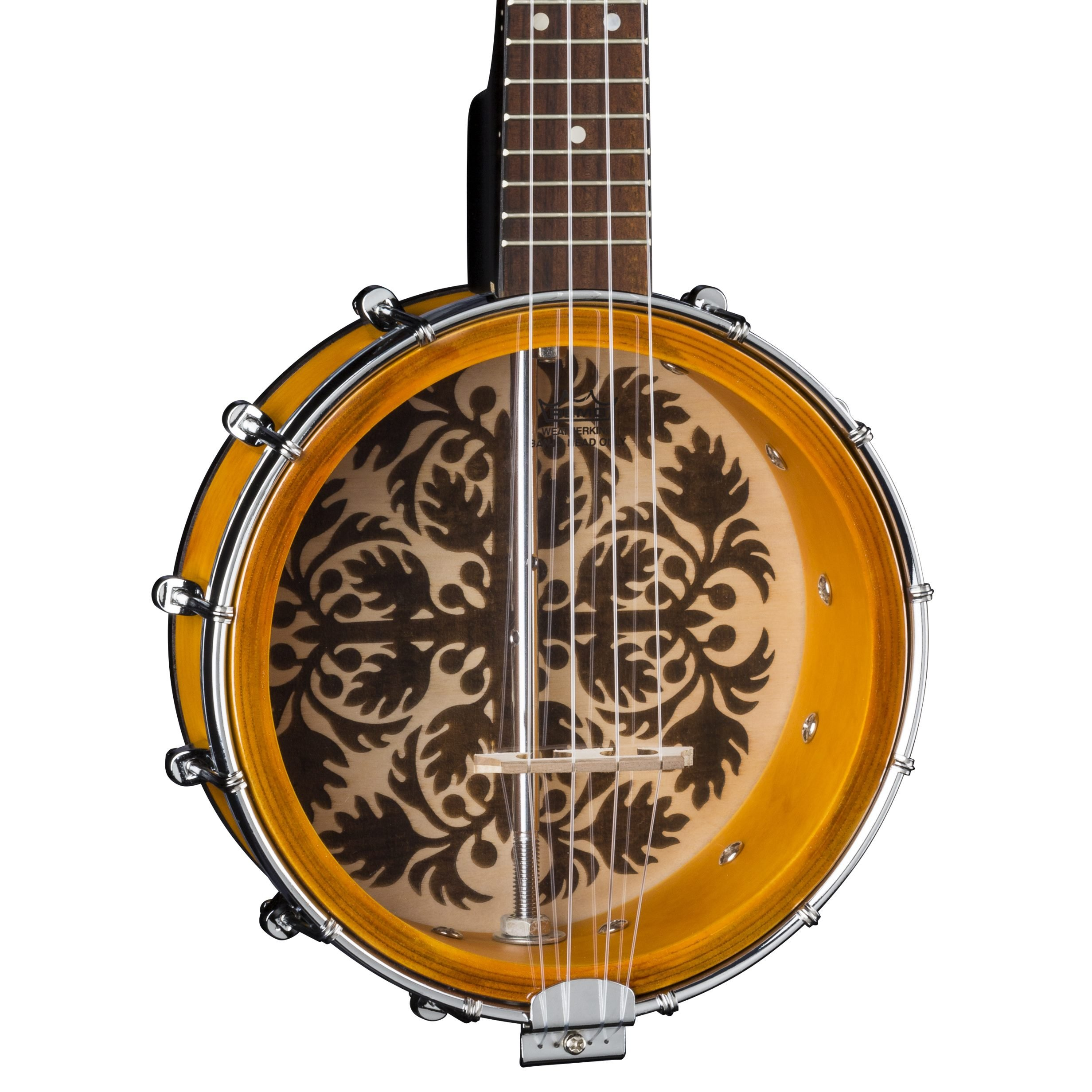 Luna 8'' Banjolele with Ulu Design, Tobacco Burst