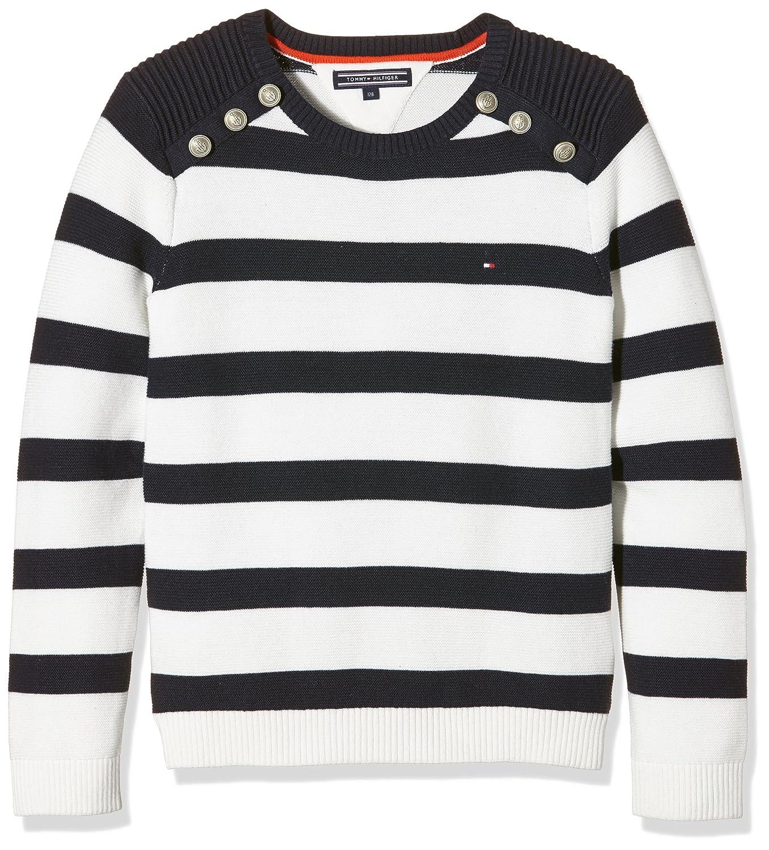 Tommy Hilfiger Mädchen Pullover Girls Stripe Cn Sweater L/s