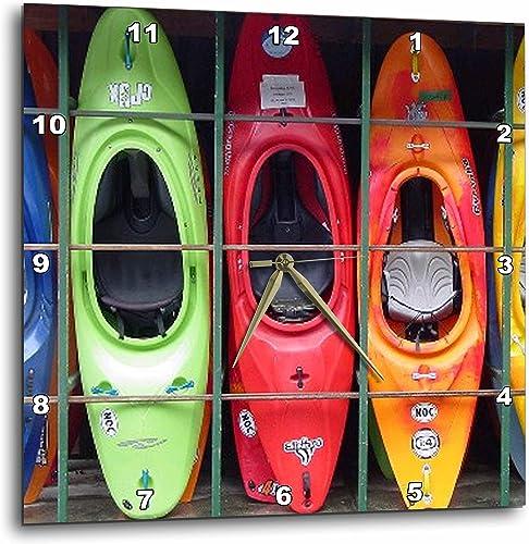 3dRose Kayak – Wall Clock, 15 by 15-Inch DPP_3164_3