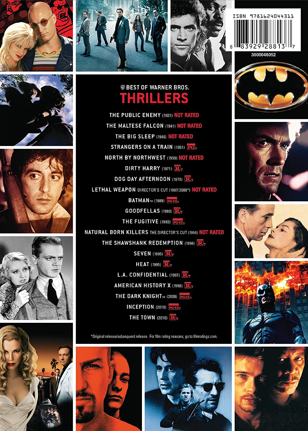 Amazon Com Best Of Warner Bros  Film Collection Thrillers Dvd Various Movies Tv