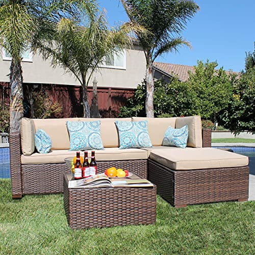 Patiorama 5 Pieces Outdoor Furniture Sets Patio Sectional Furniture