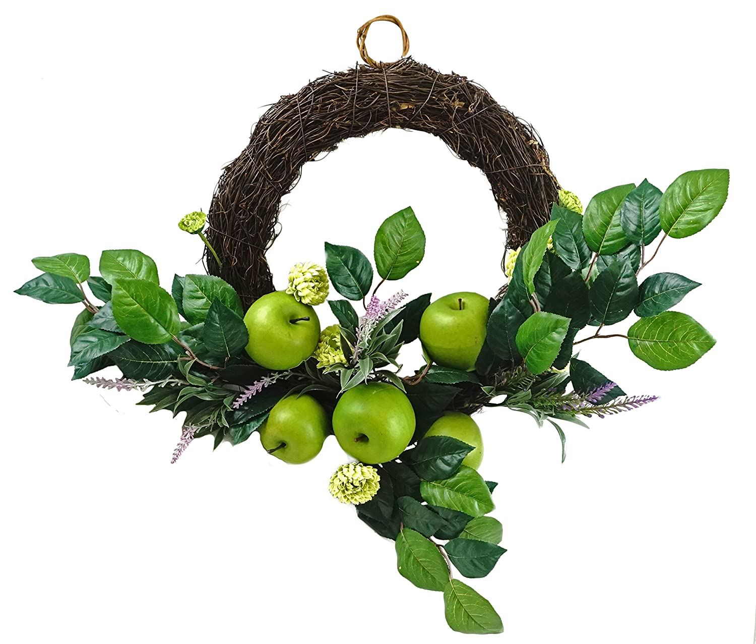 Apple Blossom withラベンダーSpring Twig Wreath – 22