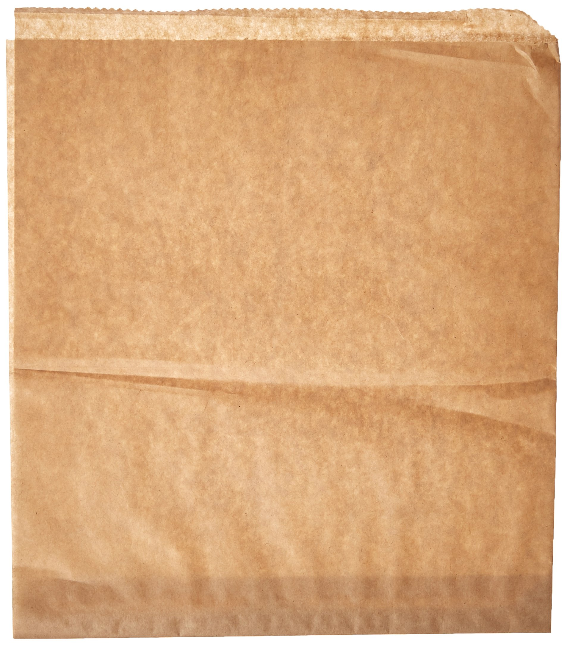 Bagcraft Papercon 300101 EcoCraft Paper Grease Resistant Large Dubl Open Bag, 10'' Length x 9'' Width, Natural (Case of 1000)