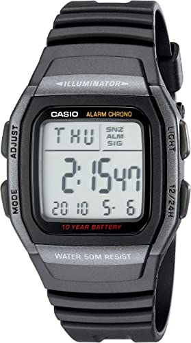 Casio Men's W96H 1BV Classic Sport Digital Black Watch