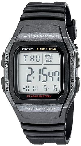 30fe34ba3e45 Casio W96H-1BV Reloj Digital clásico deportivo