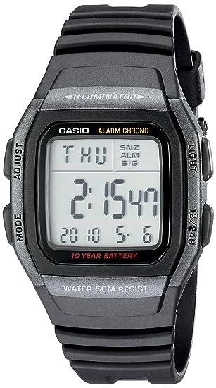 2cacead36 Amazon.com: Casio Men's W96H-1BV Classic Sport Digital Black Watch: Casio:  Watches